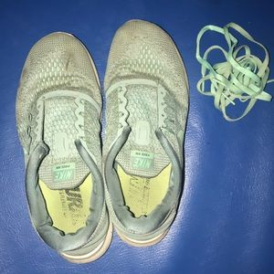 Mint Green and Green Nike Shoes